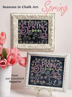 Seasons in Chalk Art: Spring from the Mar/Apr 2016 issue of Just CrossStitch Magazine. Order a digital copy here: https://www.anniescatalog.com/detail.html?prod_id=129764