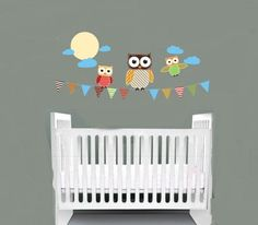 Kids children banner vinyl wall decal with flags 3 by wallinspired, $48.00