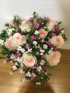 Sweet William n pink roses goes well together