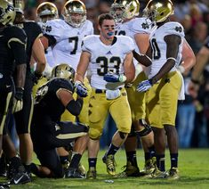 Notre Dame running back Cam McDaniel is getting a lot of Internet attention after this Getty Images photo from the USC game by Jonathan Daniel made the rounds: