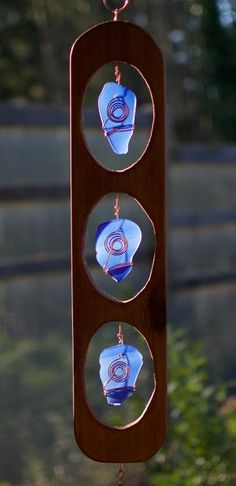 West Coast Zen Outdoor Large Glass Copper Cedar Wind Chimes - Coast Chimes - 4