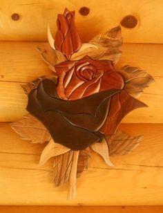 Double Rose Intarsia