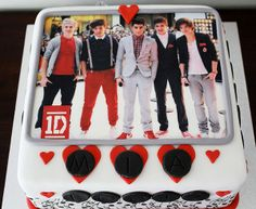 one direction girl cakes | 16. One Direction birthday cake idea for boys