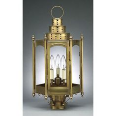 Northeast Lantern Fillmore 3 Light Lantern Head Finish: Dark Antique Brass, Shade Type: Clear Seedy