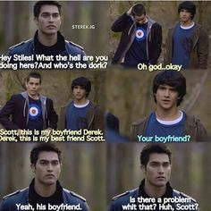 Scott meets Stiles's boyfriend Derek