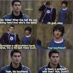 Scott meets Stiles's boyfriend Derek