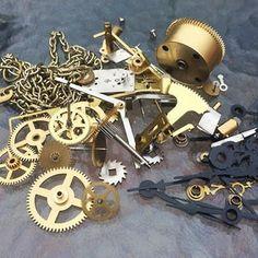 Wooden Wall Clock LILY Kit DIY Project Kit Pendulum | Etsy Wooden Clock Kits, Wall Clock Kits, Steampunk Clock, Pendulum Clock, Wooden Walls, Gifts For Husband, Diy Kits, Etsy, Steampunk Watch