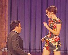 Emma Watson Dancing with Jimmy Fallon (gifset)