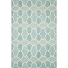 Hand-tufted Tatum Aqua Wool Rug (5'0 x 7'6) - Overstock Shopping - Great Deals on Alexander Home 5x8 - 6x9 Rugs