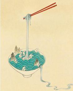 마이애미에서 선보일 새작품#Aphrodisiac #new_work #noodle #seongminahn #minhwa #koreanart #안성민 #현대민화 #한국화 #국수