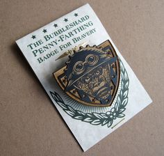 Bubbleshard Laser Engraved Badge by ChetArt on Etsy, $14.00