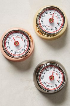 Magnetic Kitchen Timer - anthropologie.com - In the store they have teal and red. (love one of those colors over the colors they offer online)