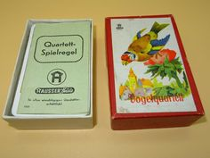Kartenspiel Hausser Deutschland Quartett Vögel 1934 - Nr. 598/9 Spielkarten Cover, Ebay, Game Cards, Games, Germany, Slipcovers, Blankets