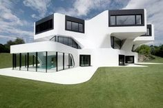 Glass house green exterior white all over