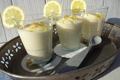 Lemon Cream, Marzipan, Paleo Recipes, Paleo Food, 4 Ingredients, Food And Drink, Vegetarian, Yummy Food, Sweets