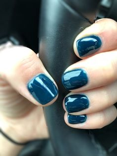 This is my favorite fall color to date! It's October and this nail color is the perfect way to get me feeling like fall and cozy. This is dipping powder in a navy blue. I believe the number is 75.