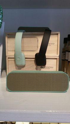 Mint Muziek box en zwart /mint headphones van Kreafunk bij Mint Mini Mall
