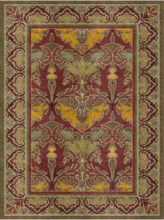 Voysey Rug Designs tulip and lily fall