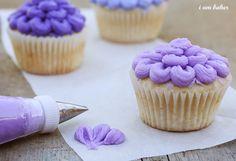 Cute bridal shower cupcakes