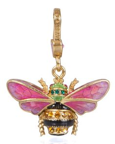 Muriel Bee Charm by Jay Strongwater at Neiman Marcus.
