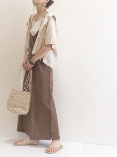 Uniqlo, Simple Style, Spring Fashion, Camisole, Duster Coat, Street Wear, Spring Summer, Beige, Lady
