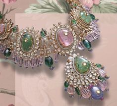 Designer Jewellery, Jewellery Designs, Necklace Designs, Stone Jewelry, Beaded Jewelry, Beaded Necklace, Gold Chocker, India Jewelry, Neck Piece