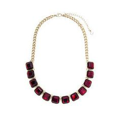 RUBY CHICLET NECKLACE