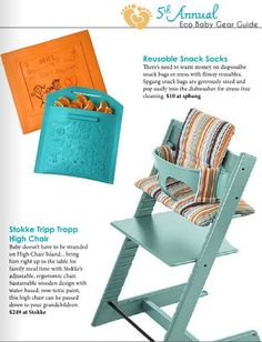 Stokke Tripp Trapp Chair Featured In GREEN CHILD MAGAZINE