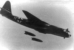 Arado-234 jet bomber dropping its bombs