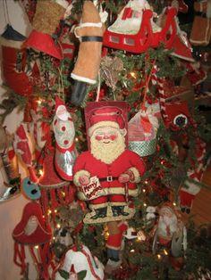 Antique 1930s Christmas ornaments.