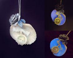 'Elemental' Beautiful glow in the dark cream seashell necklace