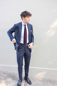 Remy in his new navy suit