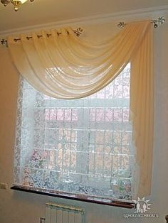 use two decorative curtain rods for a great effect
