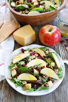 Whether you prefer apple cranberry salad or apple walnut salad, we rounded up some of our favorite recipes. Apple Cranberry Salad, Apple Walnut Salad, Apple Salad Recipes, Beef Recipes, Snack Recipes, Farro Recipes, Recipies, Beef Tenderloin Recipes, Healthy Snacks