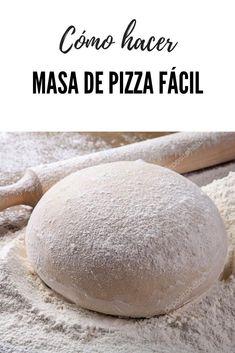 Cómo hacer masa de pizza fácil y rápida. CUando pruebes esta masa de pizza no querrás otra. Es muy sencilla de elaborar y no se mancha nada de nada, ademas queda riquísima. ¿Te parecen pocos motivos para probarla? #pizza #lacocinadelila Pizza Recipes, Healthy Recipes, Gerd Diet, European Cuisine, Latin Food, Cooking Time, Food Dishes, Food And Drink, Bread