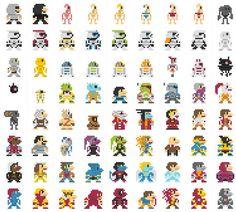05-696 personajes clásicos geeks versión 8-Bits.