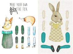 mollymoo.ie - paper dolls + printables for kids