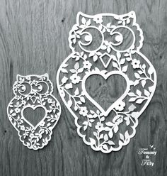 40% off sale Owl Design  Papercutting by TommyandTillyDesign
