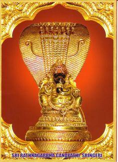 Ratnagarbha Ganapati idol at shringeri Saints Of India, Shree Ganesh, Lord Ganesha, Spirituality, Mughal Empire, Ceiling Lights, Hinduism, Incredible India, Goddesses