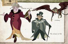 Photos: WICKED As An Animated Film? Disney Artist Imagines Cartoon Elphaba, Glinda and More!