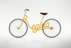 Paris-based art director Juri Zaech created Write a Bike, a lovely 2010 conceptual project in personalized name bicycle frames. Prints and other items showing Lovely Friday are available to purchase.