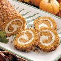Pumpkin-Pecan Cake Roll Allrecipes.com