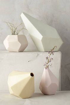 Faceted Ceramic Vase