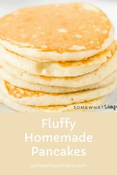 Homemade Pancakes Fluffy, Pancakes Easy, Waffle Recipes, Brunch Recipes, Most Delicious Recipe Ever, Egg Recipes For Breakfast, No Bake Desserts, Discovery, Easy Meals