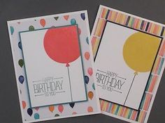 2015 Stampin' Up! Occasions Celebrate Today Birthday Balloon Card