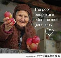 THE POOR PEOPLE ARE ….