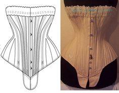 Ref s patron papier de corset ancien sablier - patron couture - Atelier Sylphe Corsets - Fait Maison