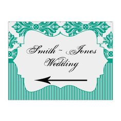 Shop Emerald Green White Damask Wedding Direction Sign created by NoteableExpressions. Wedding Direction Signs, Wedding Signs, Wedding Directions, Custom Yard Signs, Damask Wedding, Ceremony Signs, Directional Signs, Corrugated Plastic, White Damask