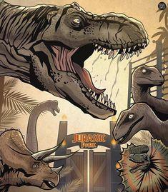 T Rex Jurassic Park, Jurassic Park Tattoo, Jurassic Park Trilogy, Jurassic World Dinosaurs, Jurassic Park World, Lego Jurassic, Dino Park, Monochromatic Art, Science Fiction