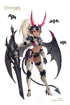 이미지 보기 : 네이버 카페 Female Character Design, Character Design References, Character Design Inspiration, Character Concept, Character Art, Sucubus Anime, Chica Anime Manga, Fantasy Characters, Female Characters